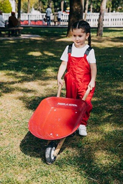 NiceKids Unisex Çocuk Kırmızı Yağmur Tulumu