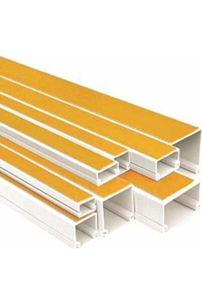 Üçler Plastik Üçler Plastık Yapışkan Bantlı Kablo Kanalları 12x12 mm 2 Metre Beyaz