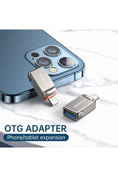 Mcdodo Ot-8600 Iphone Için Otg Veri Data Aktarımı Için Adaptör Lightning Alüminyum Yüksek Kalite