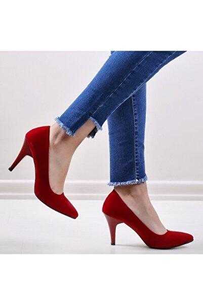 pabucmarketi Kirmizi Kuzu Kadın Stiletto Ayakkabı