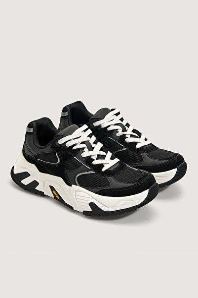 Oysho Vibram® Siyah Süet Spor Ayakkabı