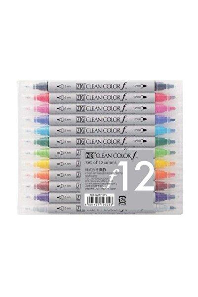 Zig Clean Color F Çift Uçlu Kalem 12 Renk Set