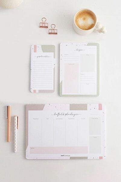 Matt Notebook 3'lü Masaüstü Planlayıcı Set Soyut