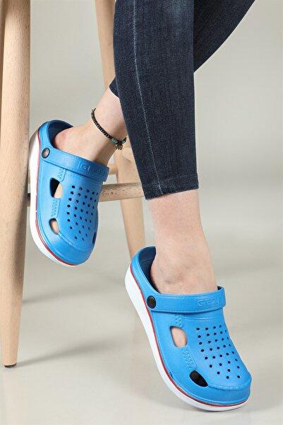 GEZER Mavi Jel Kaydırmaz Taban SaboTerlik Crocs Model 12623