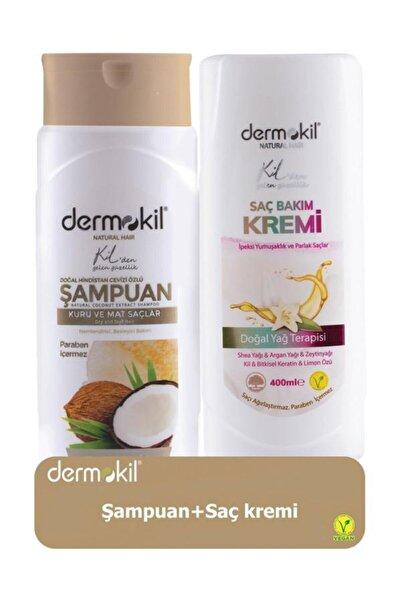 Dermokil Hindistan Cevizli Şampuan 400 ml Ve Saç Kremi 400 ml 8697916004127