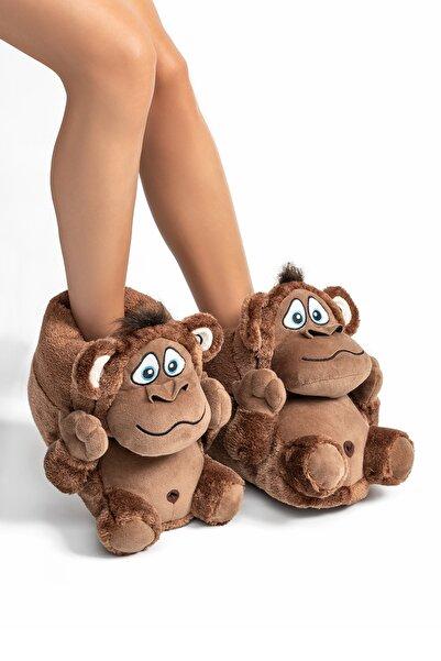 Twigy Unisex Hayvanlı Panduf - Maymunlu Ev Içi Yeni Sezon Panduf
