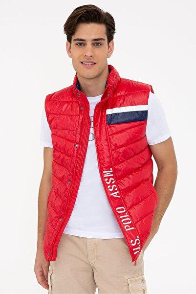 U.S. Polo Assn. Kırmızı Erkek Yelek