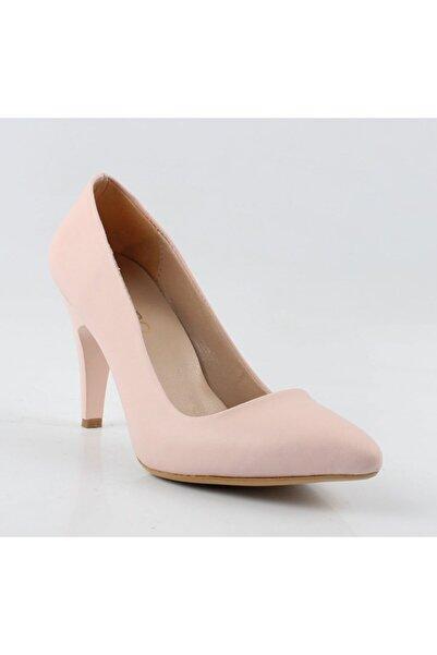 pabucmarketi Pudra Cilt Stiletto Ayakkabı