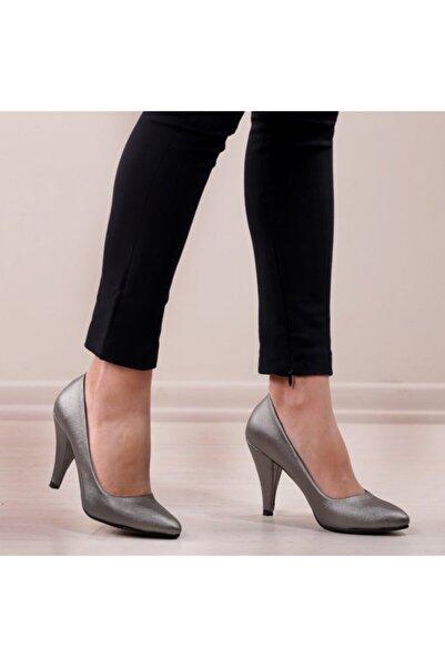 pabucmarketi Platin Prada Kadın Stiletto Ayakkabı
