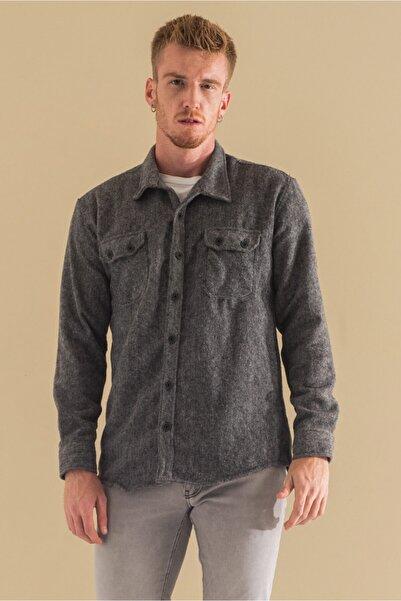 caddecity Apaç Yaka Balıksırtı Oduncu Gömlek