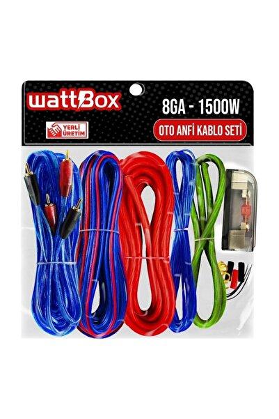 WATTBOX Oto Anfi Kablo Seti Full 8ga 1500w