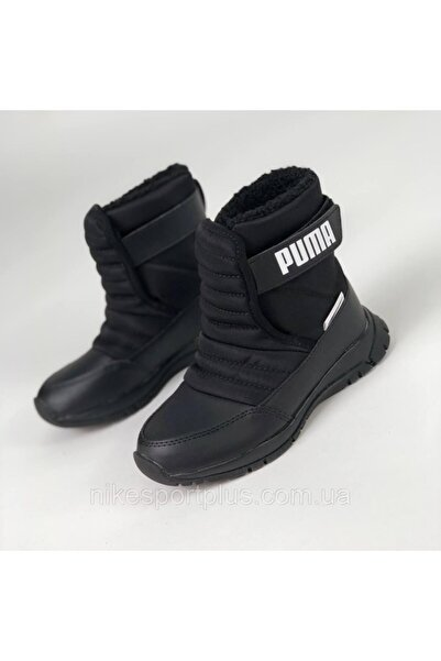 Puma 38074503 Nieve Boot Wtr Ac Ps Black-pum Çocuk Günlük Spor Ayakkabısı