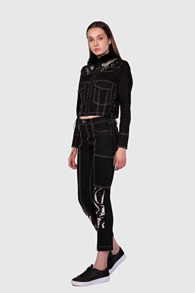 xGIZIA Siyah Crop Kot Ceket