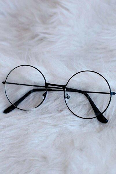 Amasra Yuvarlak Şeffaf Harry Potter Güneş Gözl��ğü Siyah