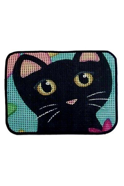 Ancare Desenli Kedi Tuvalet Önü Kum Paspası ( Boyut 60 X 45 )
