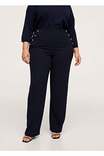 MANGO Woman Düz Kesimli Düğmeli Pantolon