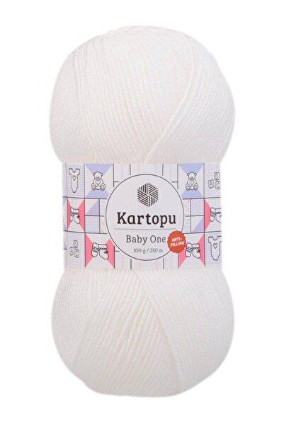 Kartopu Baby One %100 Anti-pilling Bebek Yünü Kar Beyaz K010