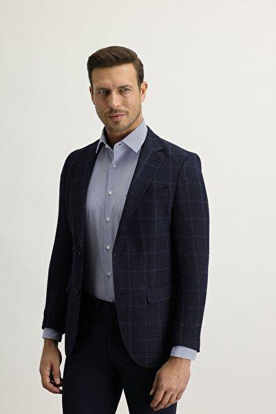 Kiğılı Regular Fit Ekose Ceket