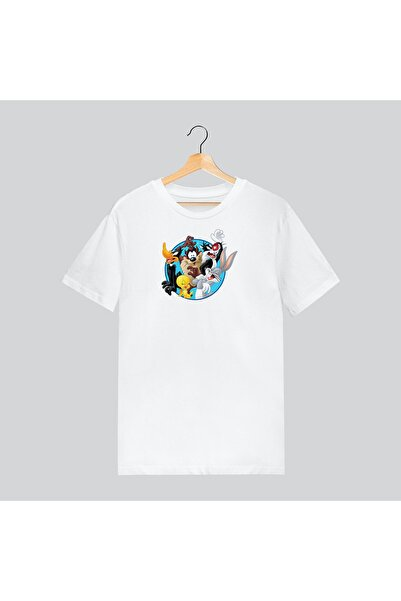 ModaEra Tazmanya Canavarı Bugs Bunny Twety Karışık Çizgi Film Karakter Tshirt T-shirt Tişört