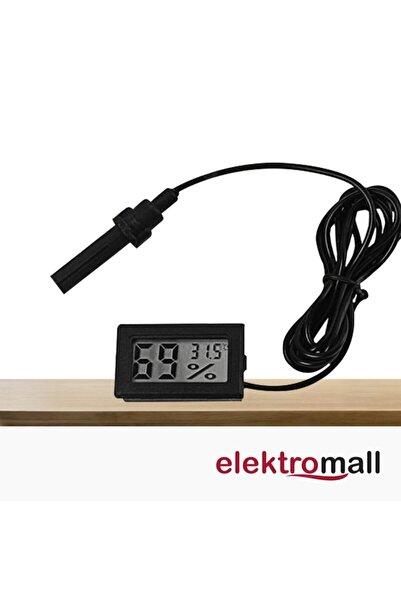 ELEKTROMALL Dijital Nem Ölçerli Iç Veya Dış Sıcaklık Ölçer Ev Ve Bebek Odası Higrometre Termometresi