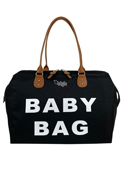 Stylo Baby Bag Anne Bebek Bakım Ve Kadın Çantası Tek-siyah