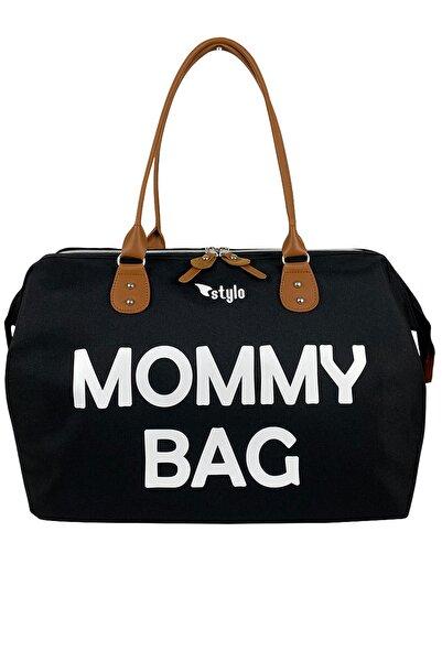 Stylo Mommy Bag Anne Bebek Bakım Ve Kadın Çantası-siyah Beyaz Baskı