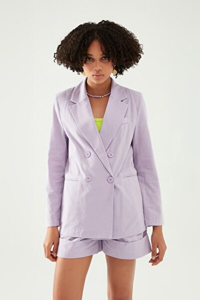 Quzu Kadın Lila Blazer Ceket