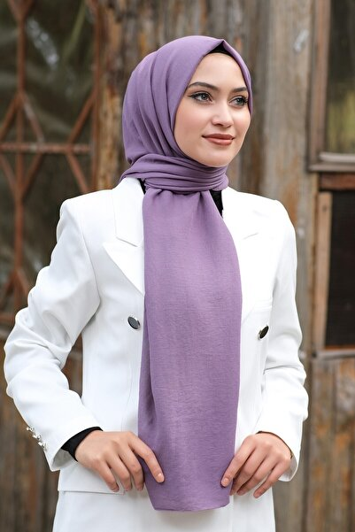 Moda Ebrar Pamuk Kraş Şal - Lila