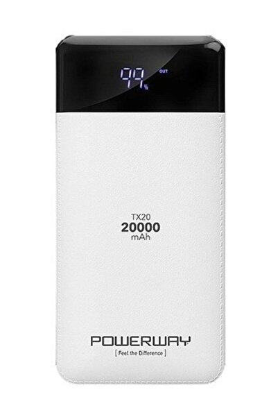 POWERWAY Tx20 20000 Mah Dijital Göstergel Çift Usb Powerbank