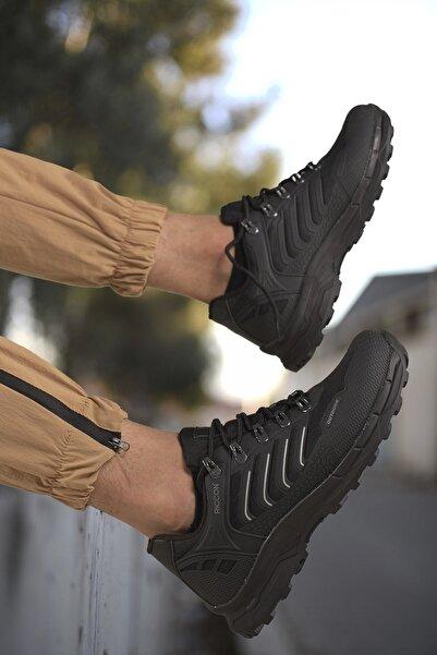 Riccon Siyah Unisex 3d Rubber Trekking Ayakkabı 00128060