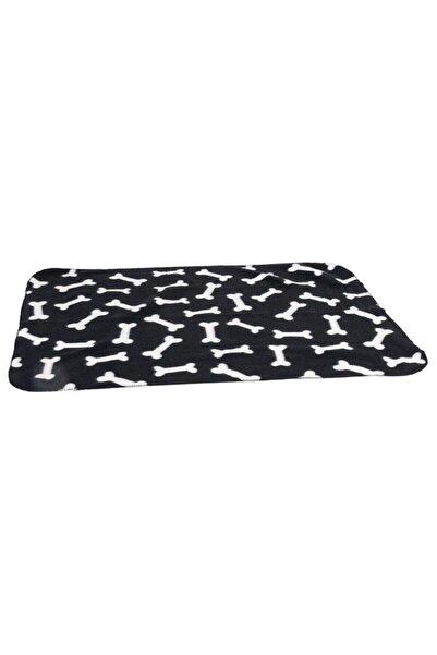 Karlie Köpekler Için Polar Battaniye Kemik Desenli Siyah 100 X 70 Cm