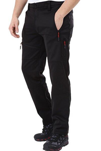 GHASSY CO. Erkek Tactical Outdoor Su Geçirmez Siyah Softshell Pantolon