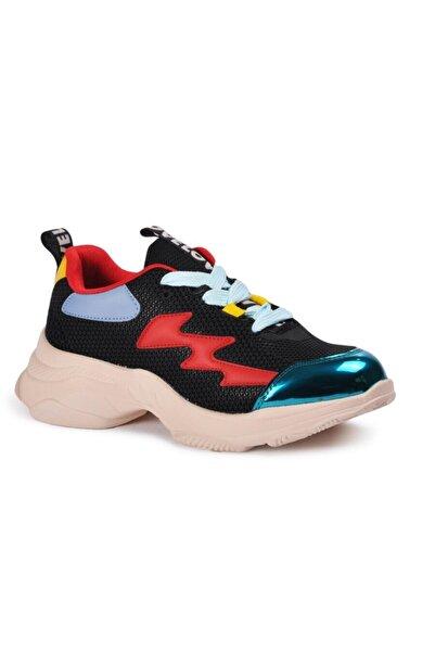 TIFFANY&TOMATO Siyah Beyaz Kadın Spor Ayakkabı