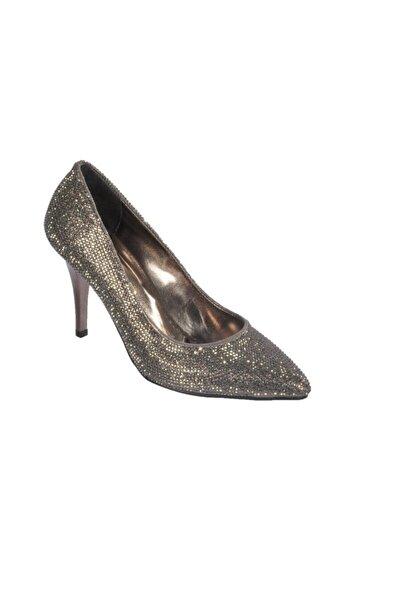 pabucmarketi Platin Kadın Topuklu Ayakkabı