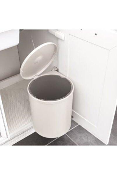 Hafele Kapağa Bağlanan Dolap Içi Çöp Kovası - Krem Beyaz