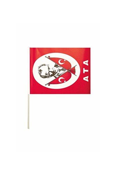Gingko Çıtalı Kağıt Küçük Ata Bayrak 10lu