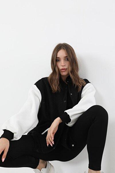 BY H Kaşe Salaş Ceket Siyah