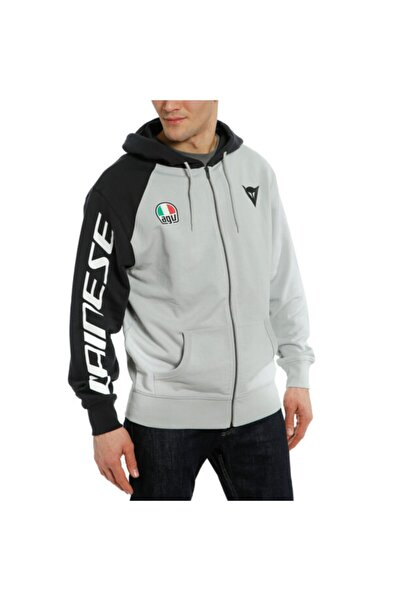Dainese Racing Service Full-zip Hooded Cotton Sweater.