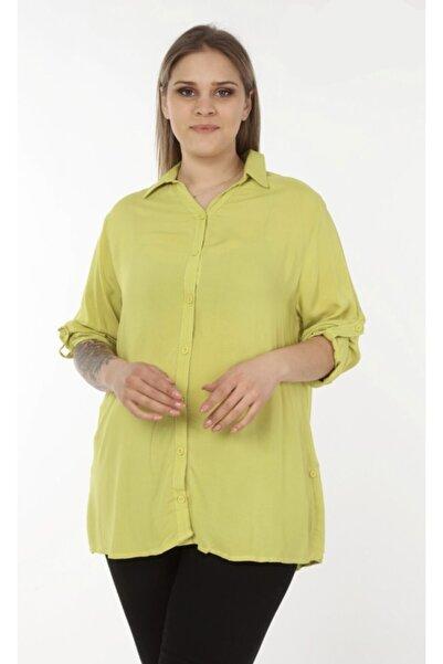 mylife tekstil Kadın Büyük Beden Gömlel