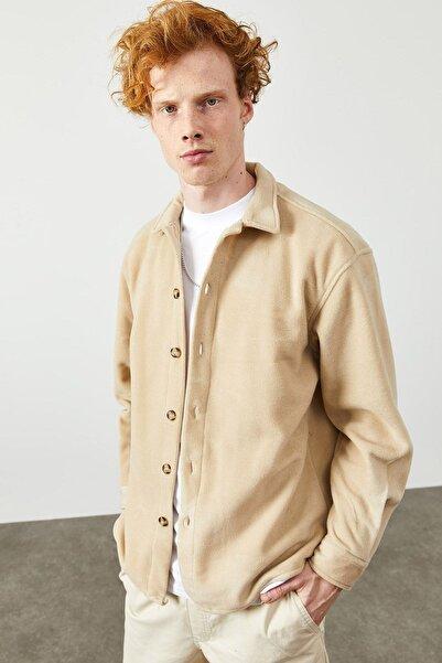 XHAN Bej Polar Düğmeli Gömlek 2kxe2-45335-25