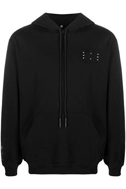 ALEXANDER MCQUEEN Burj Chest And Back Baskı Unisex Siyah Sweatshirt