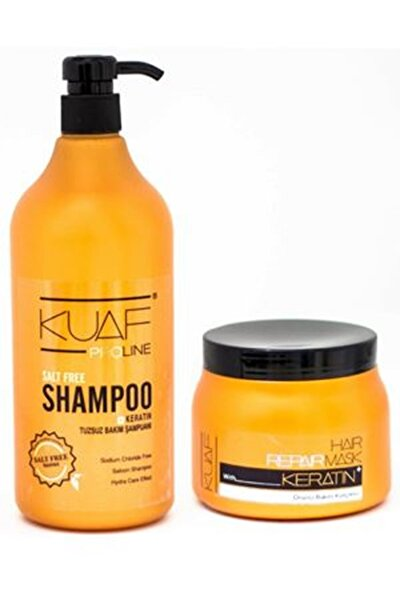 Kuaf Tuzsuz Şampuan 1 L Keratin Saç Maskesi 500 ml