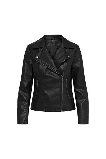 Only Kadın Siyah Deri Ceket Melisa Biker 15205625-blk