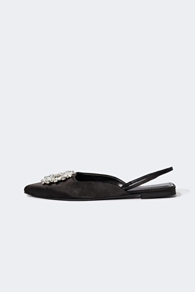 DeFacto Taşlı Saten Babet Ayakkabı