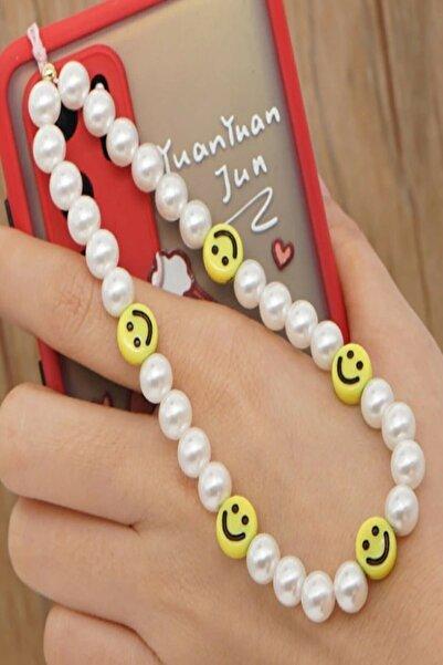 Love n Shine Gülen Yüz Inci Telefon Askısı, Charm, Anahtarlık