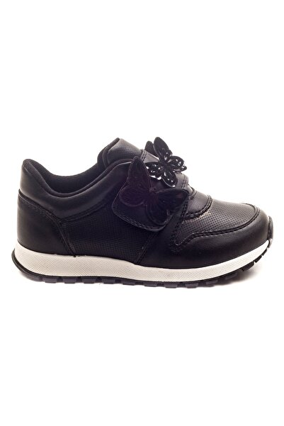 Minipicco Kız Cocuk Siyah Ortopedik Destekli Çocuk Ayakkabı