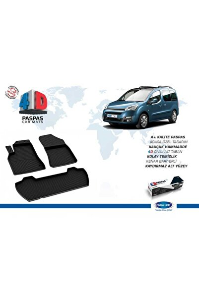 Omsa Citroen Berlingo 2 4D Paspas Siyah 2008-2018