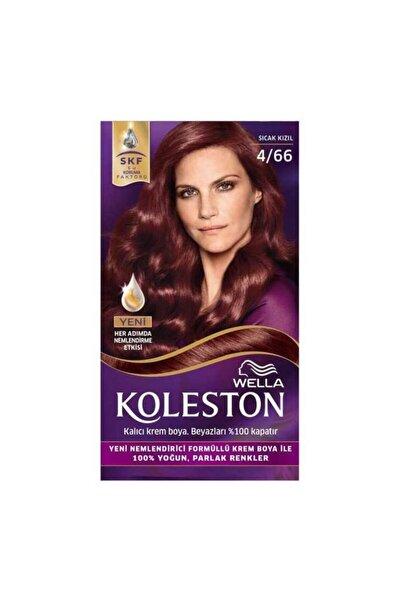 Koleston Sıcak Kızıl Set Krem Saç Boyası 4.66