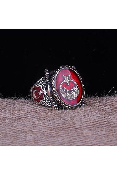 Senin Silver Ay Yıldız Türk Yazılı 925 Ayar Gümüş Yüzük