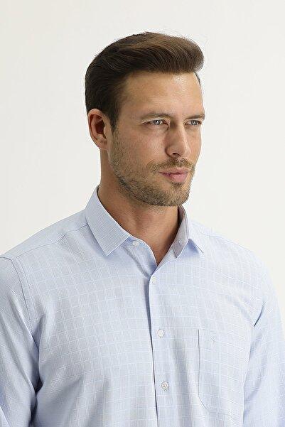 Kiğılı Uzun Kol Regular Fit Desenli Gömlek